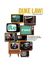 Cover of Duke Law Magazine, Fall 2016