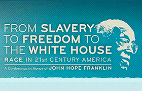 Conference poster image of John Hope Franklin