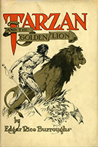 Edgar Rice Burroughs, Tarzan and the Golden Lion book cover