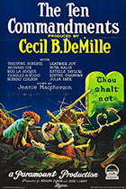'The Ten Commandments,' directed by Cecil B. DeMille movie poster