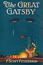'The Great Gatsby' by F. Scott Fitzgerald book cover
