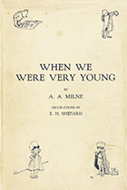 'When We Were Very Young' by A.A. Milne book cover