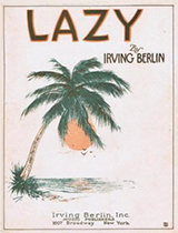 'Lazy' sheet music cover