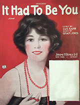 It Had To Be You sheet music cover