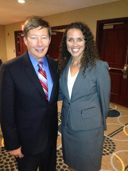 Photo of Professor Dunlap and Colonel Dawn Zoldi at the ABA's Annual Homeland Security conference