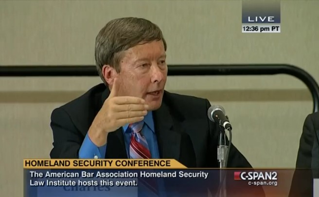 Photo of Professor Dunlap at the ABA's Annual Homeland Security conference