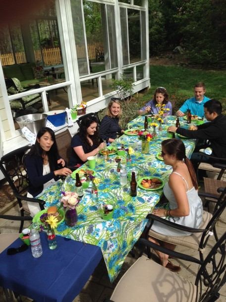 On April 12th 2015, Professor and Mrs. Dunlap hosted a barbecue at their home for the winners of the Public Interest Law Foundation (PILF) annual fundraising auction.