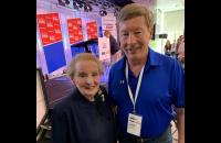 Prof Dunlap spoke with former Secretary of State Madeline Albright at the Aspen Security Forum