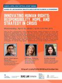 VIRTUAL -- COVID-19: Advancing Rights and Justice During a Pandemic -- Innovating Human Rights: Responsibility, Hope, and Strategy in Crisis