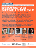 VIRTUAL -- COVID-19: Advancing Rights and Justice During a Pandemic -- Movements, Organizing, and Empowerment in the Time of COVID-19