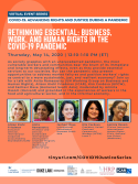 VIRTUAL -- Rethinking Essential: Business, Work, and Human Rights in the Covid-19 Pandemic | Thursday, May 14, 2020 at 12:10 p.m.