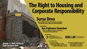 Human Rights in Practice -- The Right to Housing and Corporate Responsibility; with Prof. Surya Deva