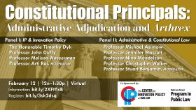 Constitutional Principals: Administrative Adjudication and Arthrex, February 12, 2021, 12 noon - 1:30 p.m., Virtual
