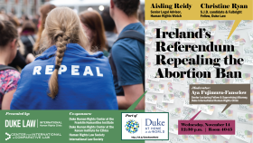 Aisling Reidy & Christine Ryan -- Ireland's Referendum Repealing the Abortion Ban, Nov. 14