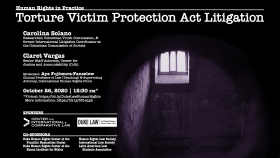 Human Rights in Practice -- Torture Victim Protection Act Litigation; Monday, October 26, 2020, at 12:30 p.m.; Virtual